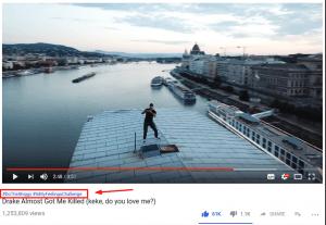 youtube hastag